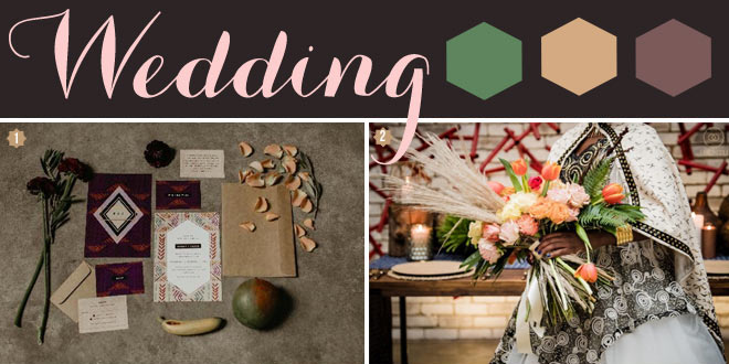 How to style an African wedding with rustic, boho, and tribal elements.