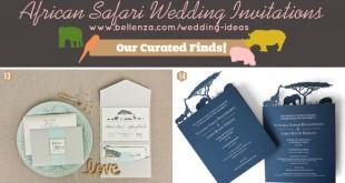African safari style wedding invitations