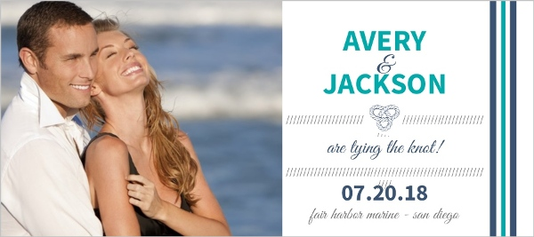 Anchor Navy And Teal Save The Date