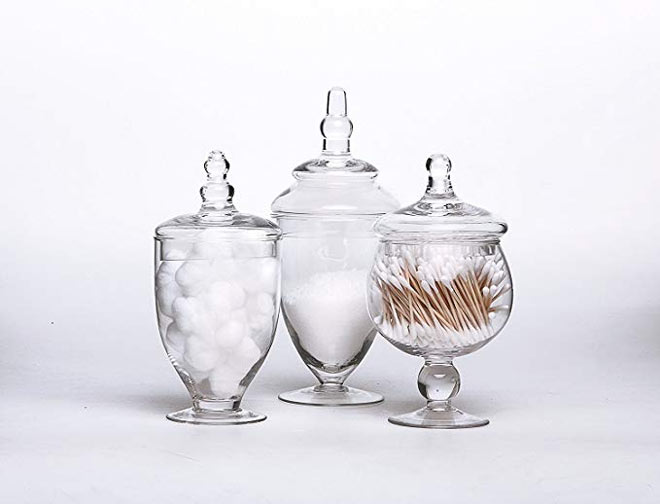 Apothecary Jars in a Set of 3
