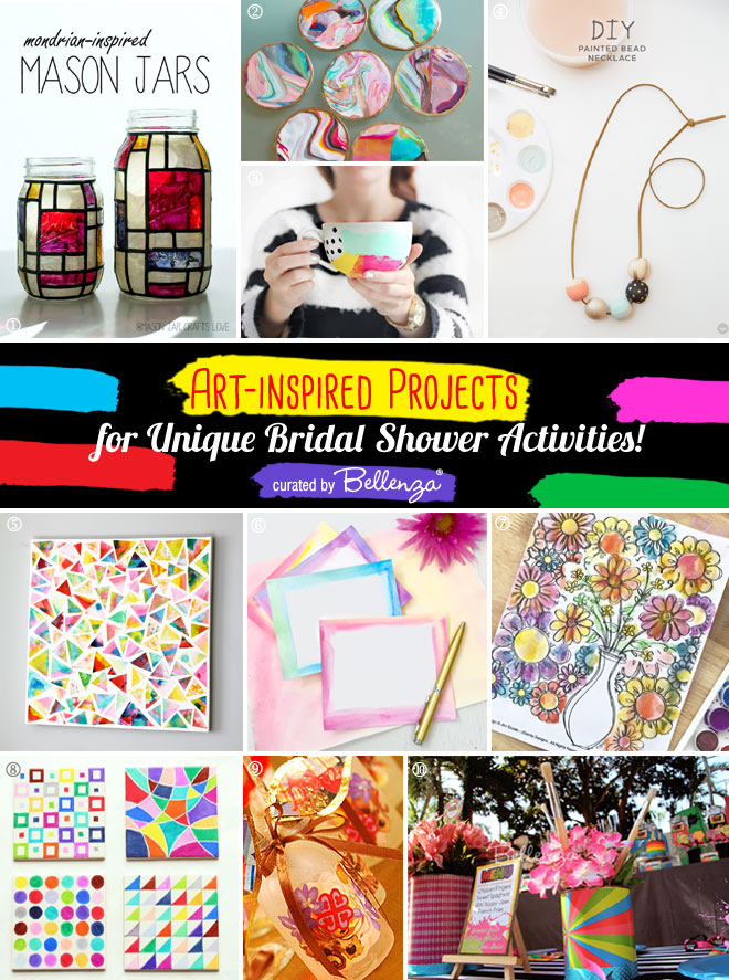 Art-inspired projects for a creative bridal shower activity!