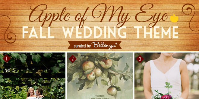 Apple-themed fall wedding!