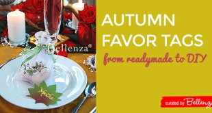 autumn wedding favor tag ideas