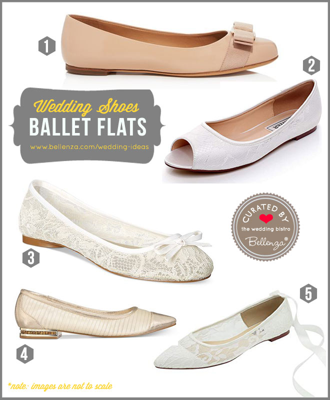 Ballet flats as wedding shoes.