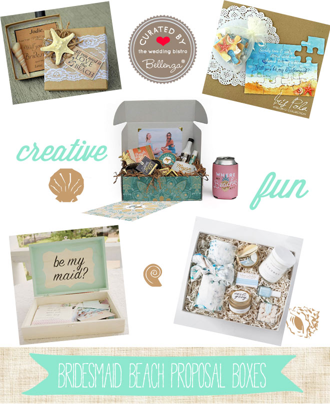 Creative Bridesmaid Proposal Box Ideas for a Beach Wedding