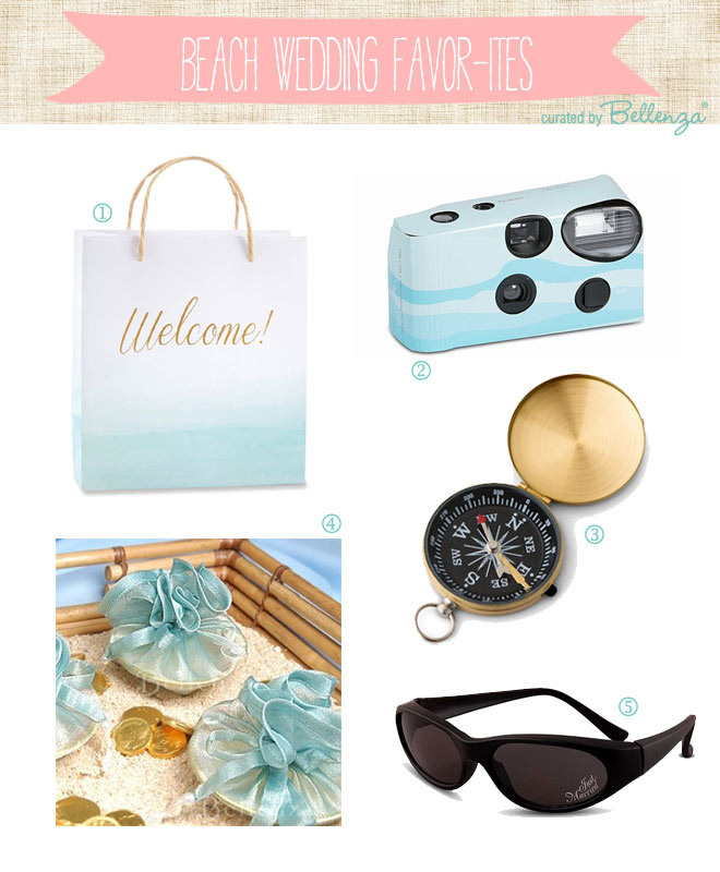 Beach Wedding Favors & Welcome Bags