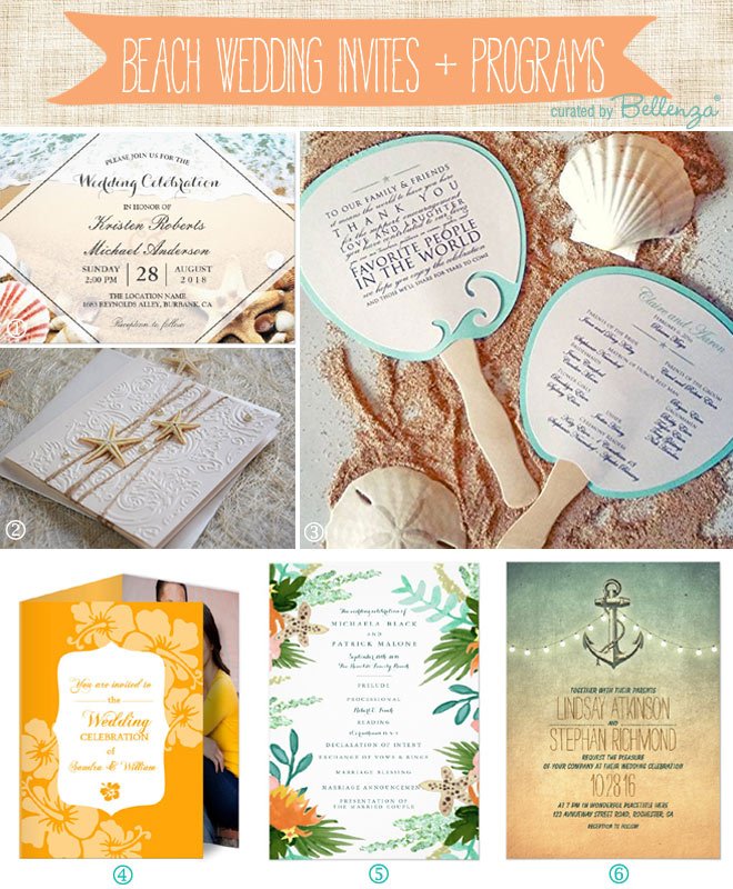 Beach Wedding Invitations and Programs