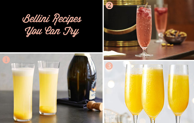 Bellini Recipes  You Can Try