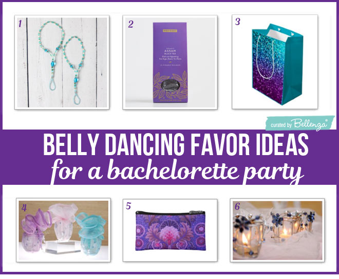 Favor Bag Ideas for a Belly Dancing Theme