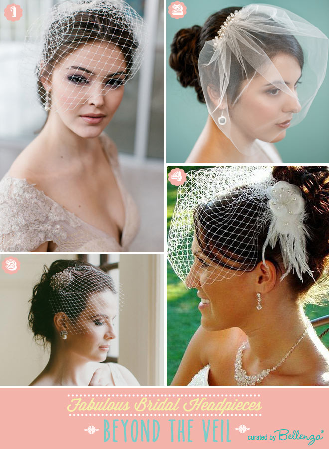 Birdcage veils that are elegant