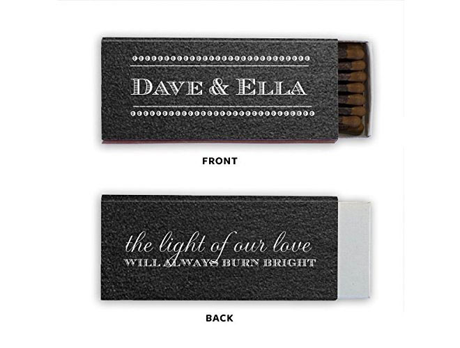 Black matchbook for long matchsticks via Amazon
