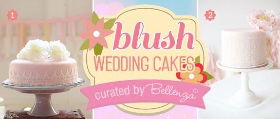 Blush pink wedding cake ideas