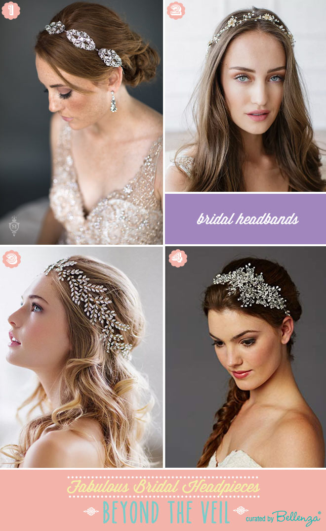 Bridal headbands as veil alternatives