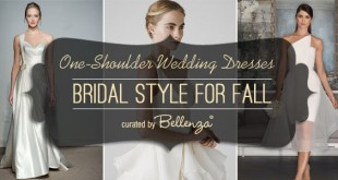 Wedding Trend for Fall - One Shoulder Bridal Gowns