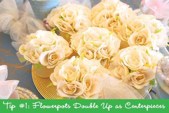 favor centerpieces for guests