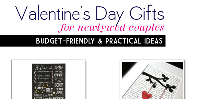 Valentine's Day Wedding Gifts for Newlywed Couples