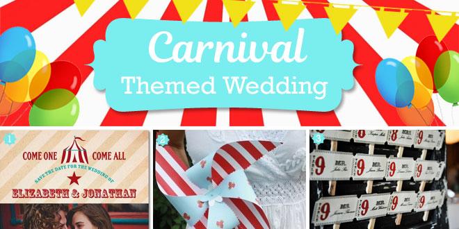 Carnival wedding theme ideas