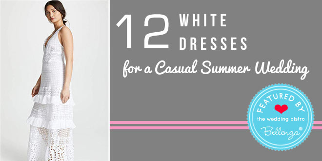 Casual white summer dresses for brides