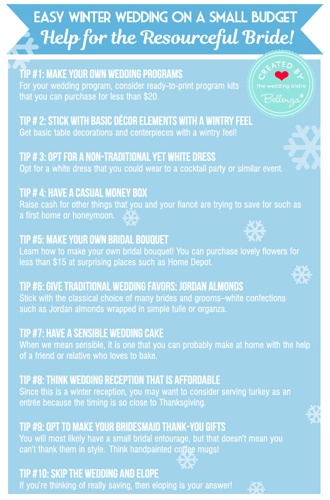 10 easy tips to plan a small winter wedding
