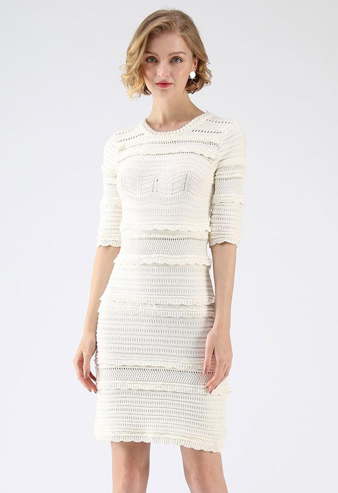 ruffles-and-lace dress