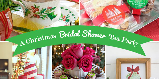 christmas bridal shower tea party