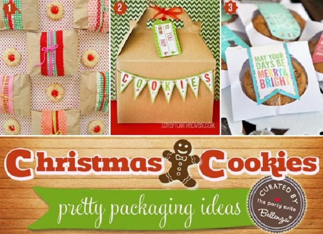 Festive Christmas cookie packaging