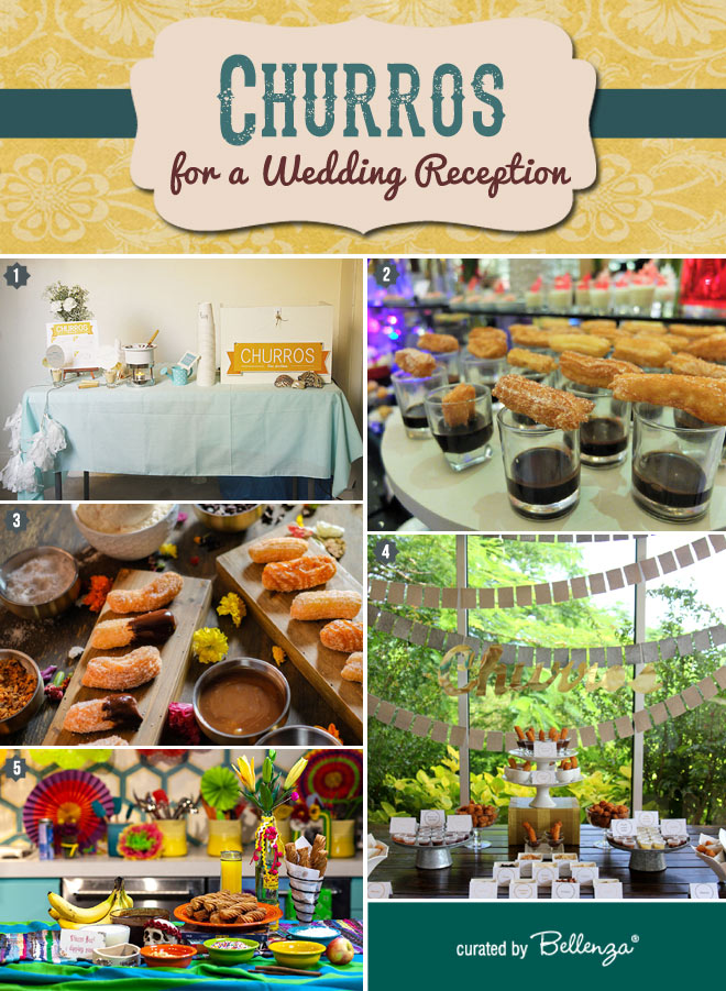 Churros wedding station ideas