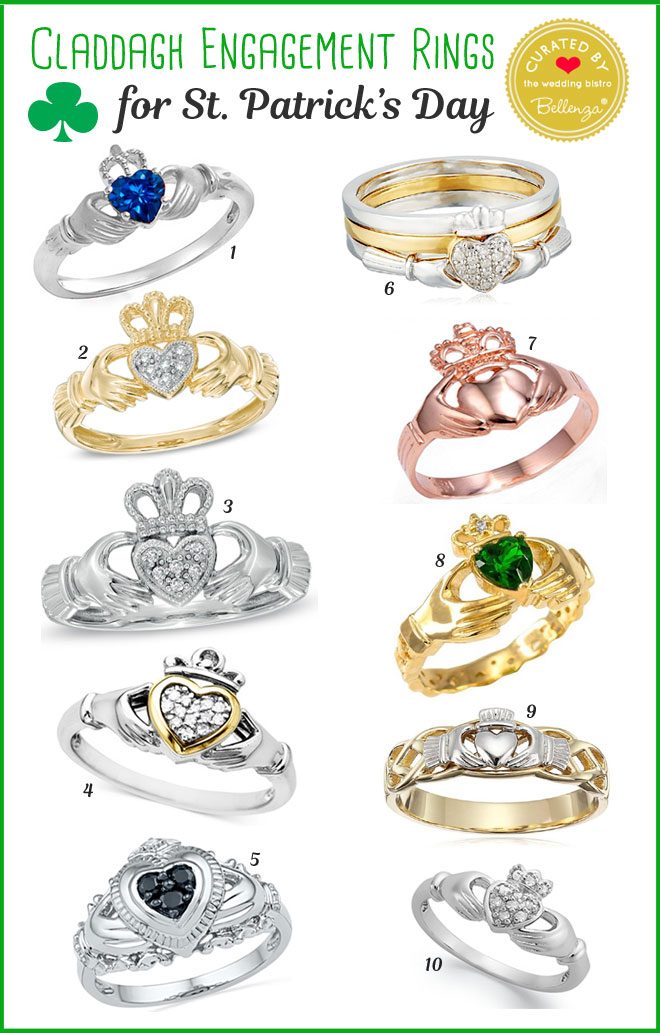 10 Elegant Claddagh Rings from Gold to Sterling Silver