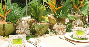 Tropical green engagement party decorating ideas