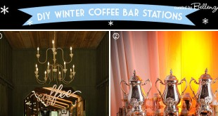 Coffee bar station ideas for a winter wedding