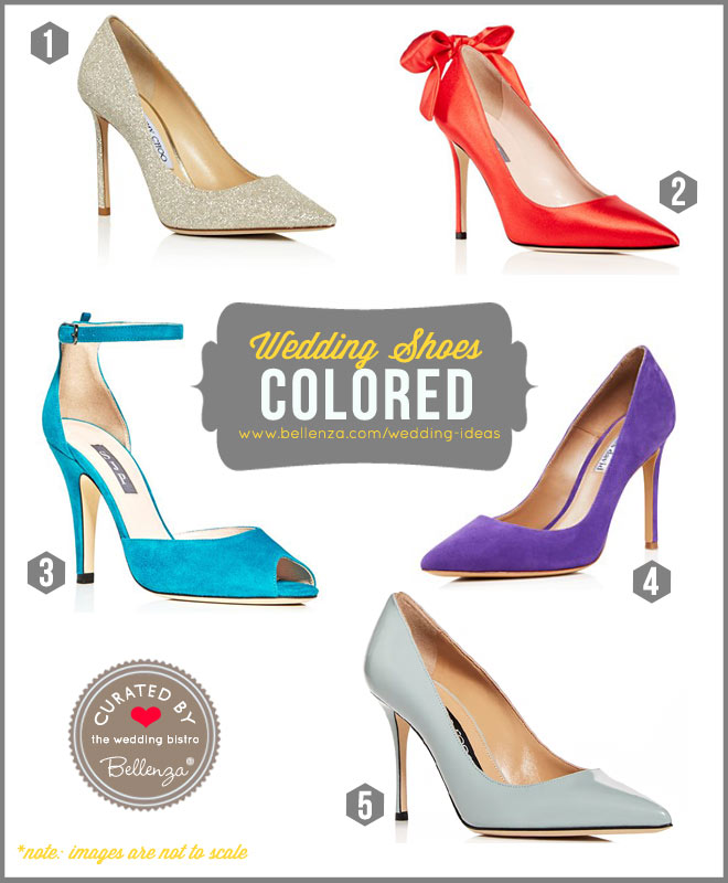 Colored Wedding Shoes from Blue to Red