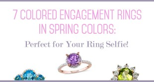 Spring-inspired engagement rings