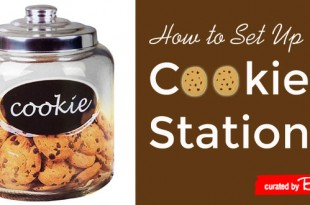 Wedding cookies station how-to