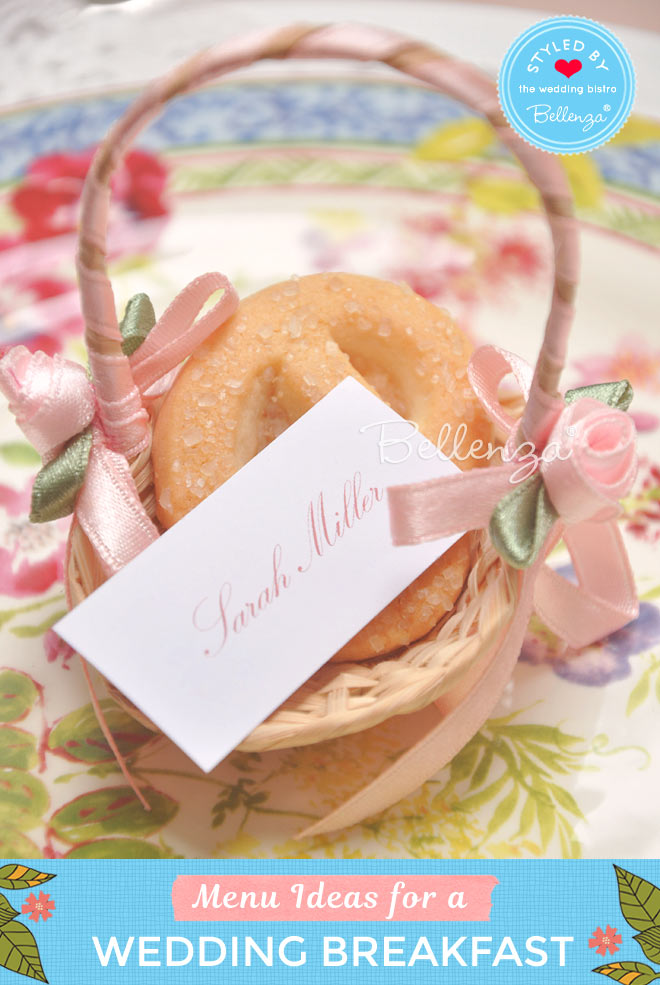 Give guests home-baked cookies in petite favor baskets.