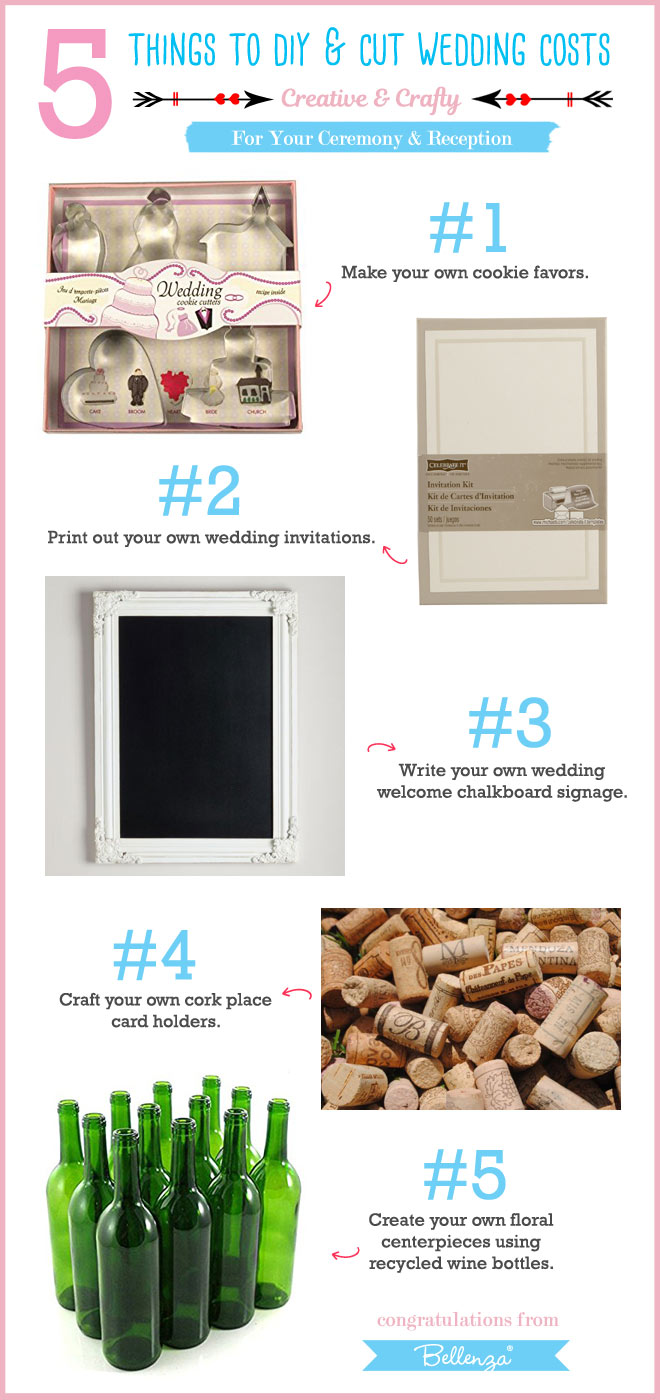 From your favors to your place cards, make and save on wedding items.