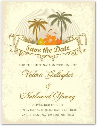 Destination Paradise Save The Dates