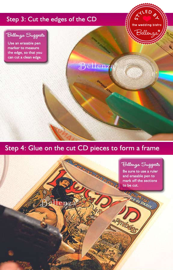 How to make gift tags from old CDs