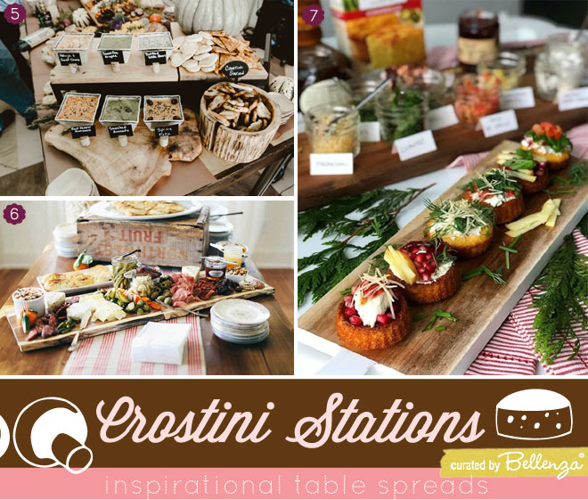 DIY Crostini Station/Buffet Table