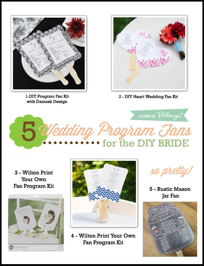 5 Wedding Program Fan Kits With Ease In Mind