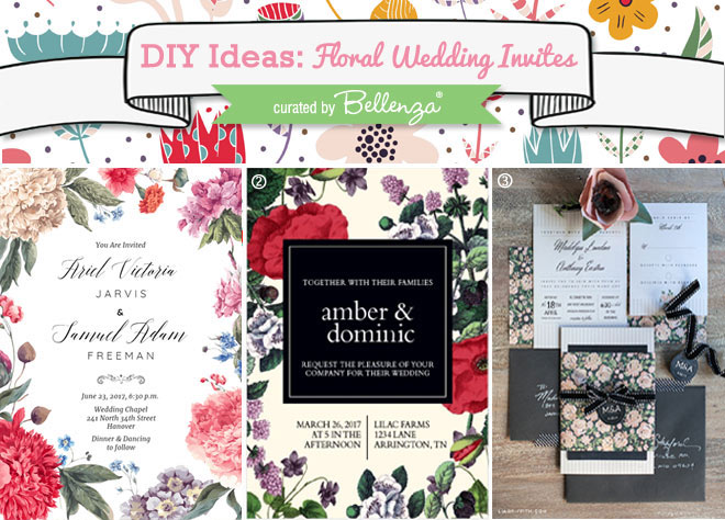 DIY floral invitations for spring weddings.