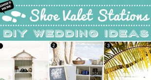 Our Picks to Make Your Own Beach Wedding Shoe Valet