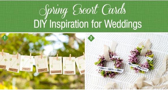 Spring escort cards to DIY