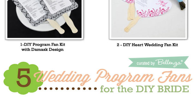 Easy Wedding Program Hand Fan Kits for the DIY Bride