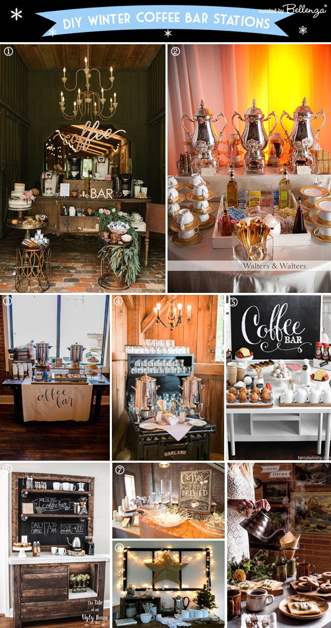 How to Set Up a Winter Coffee Bar at a Wedding