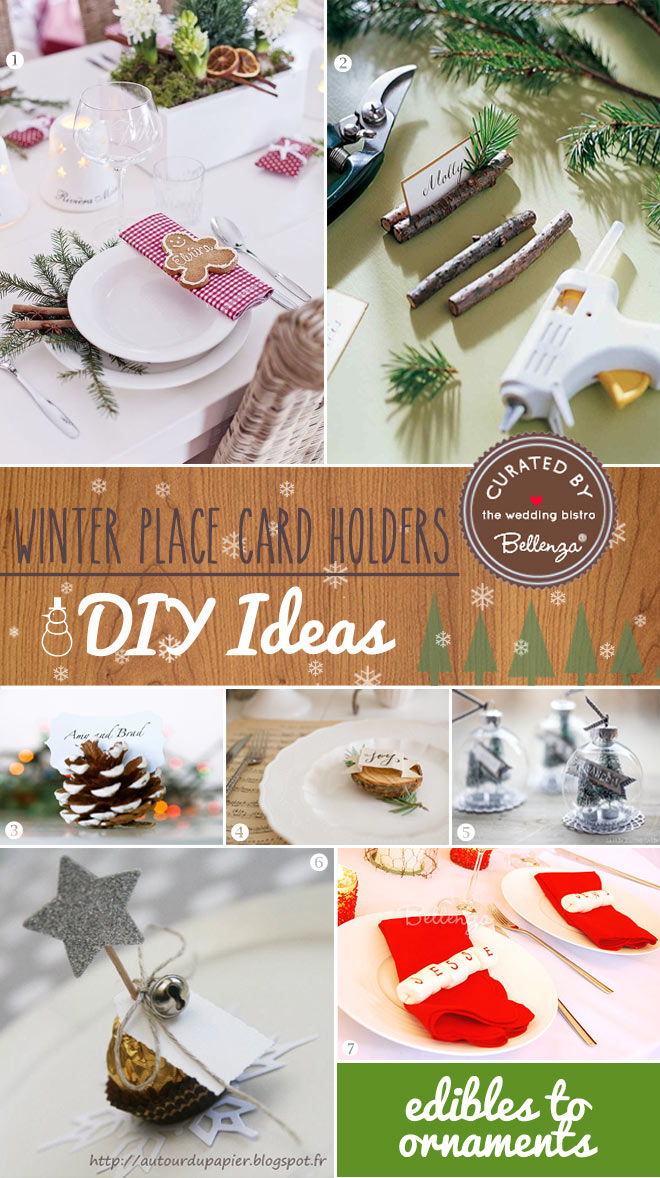 Diy winter place cards