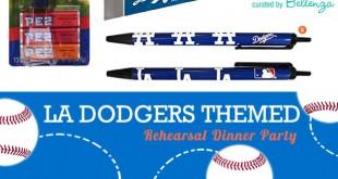 LA Dodgers-inspired Wedding Rehearsal Dinner