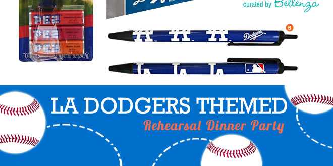 LA Dodgers-inspired Wedding Rehearsal Dinner