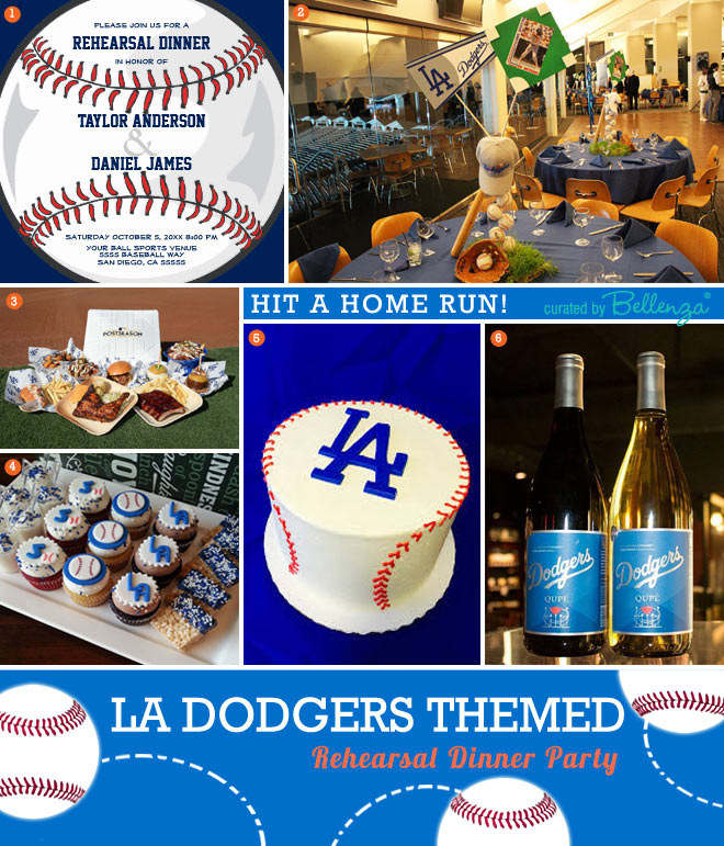 LA Dodgers-inspired Wedding Rehearsal Dinner Ideas