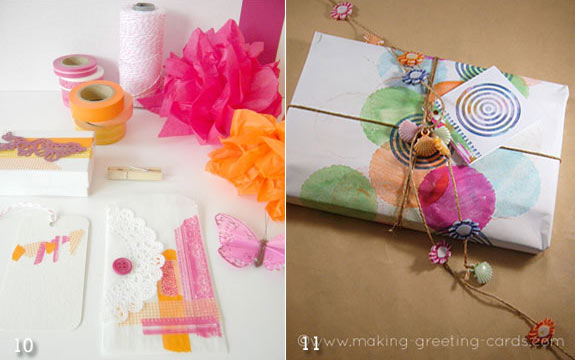 Easter favor wrapping