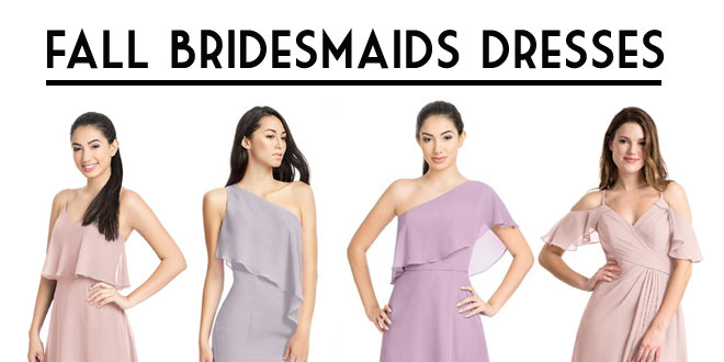 2860efe84a Beautiful Fall Bridesmaids Dresses  How to Mix and Match Colors